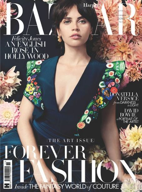 Felicity Jones British Harper's Bazaar Cover November 2016