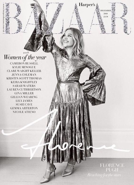 Florence Pugh British Harper's Bazaar Cover December 2018