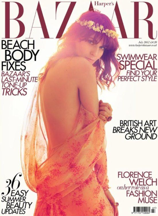 Florence Welch British Harper's Bazaar Cover July 2012