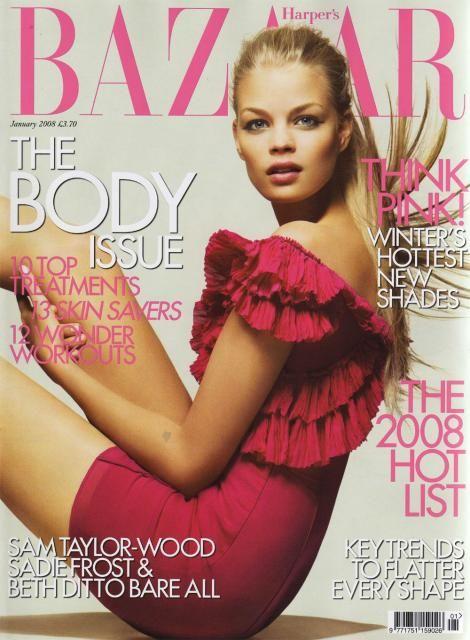 Franziska Frank British Harper's Bazaar Cover January 2008