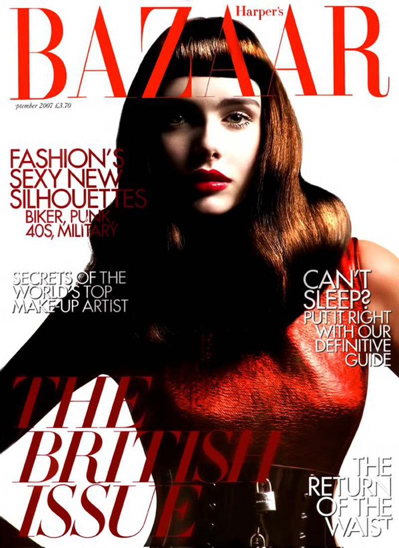 Georgia Frost British Harper's Bazaar Cover September 2007