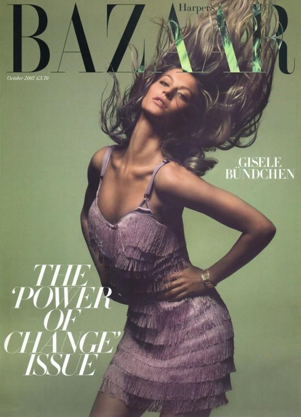 Gisele Bündchen British Harper's Bazaar Cover October 2007