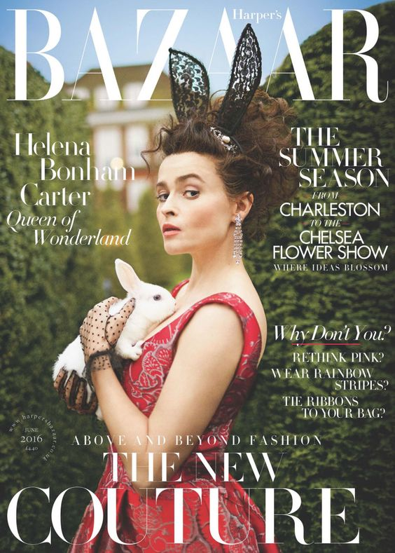 Helena Bonham Carter British Harper's Bazaar Cover June 2016