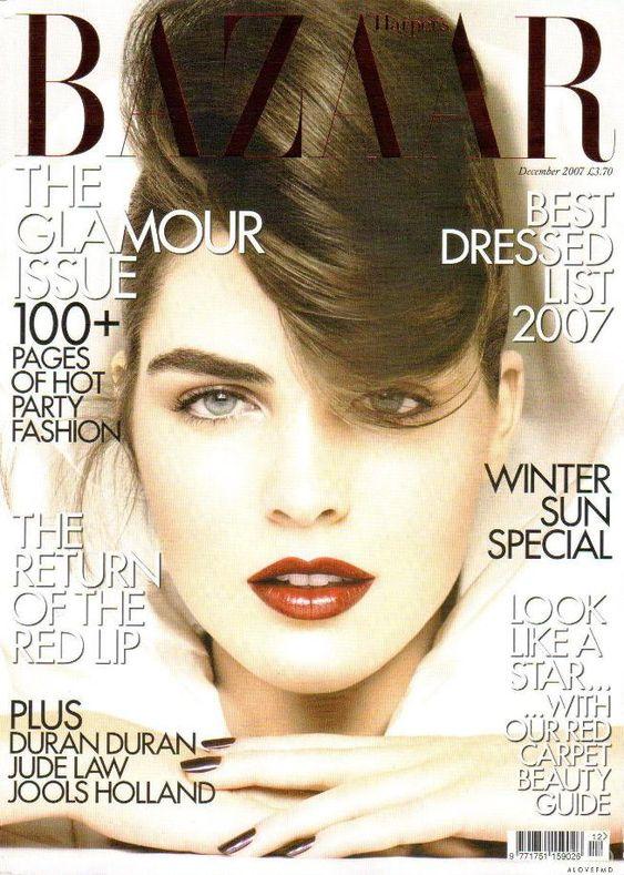 Hilary Rhoda British Harper's Bazaar Cover December 2007