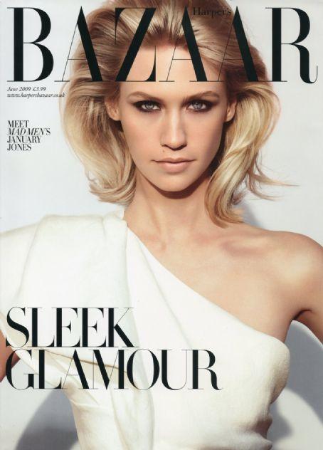 January Jones British Harper's Bazaar Cover June 2009