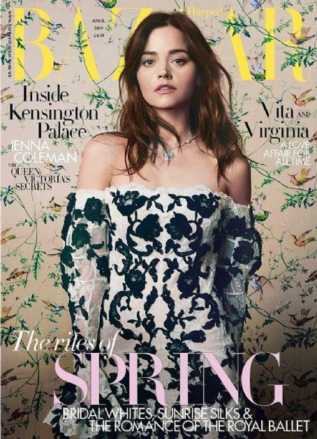 Jenna Coleman British Harper's Bazaar Cover April 2019