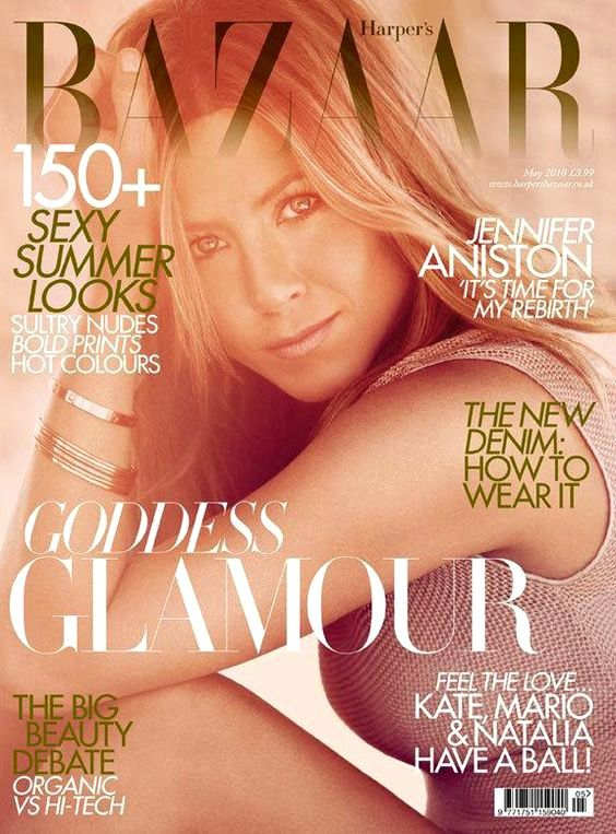 Jennifer Aniston British Harper's Bazaar Cover May 2010