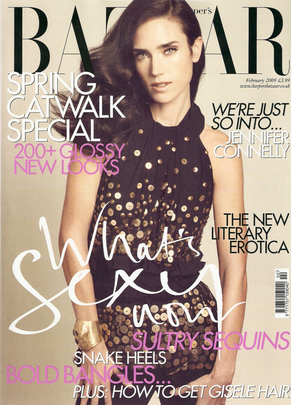Jennifer Connelly British Harper's Bazaar Cover February 2009