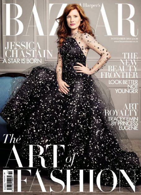 Jessica Chastain British Harper's Bazaar Cover November 2014