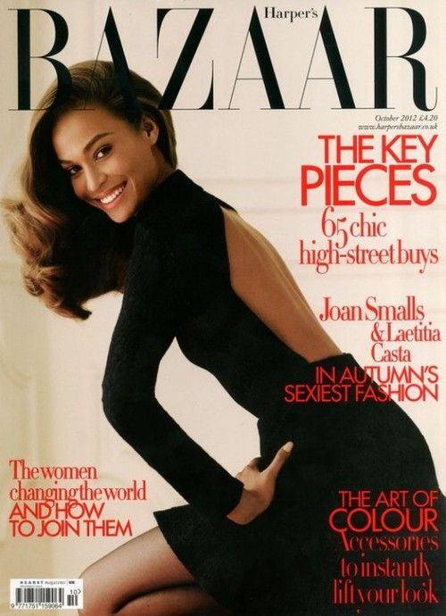 Joan Smalls British Harper's Bazaar Cover October 2012