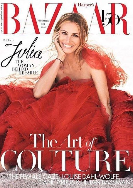 Julia Roberts British Harper's Bazaar Cover November 2017