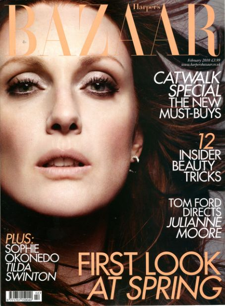 Julianne Moore British Harper's Bazaar Cover February 2010