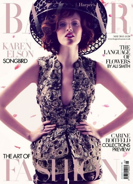 Karen Elson British Harper's Bazaar Cover May 2013