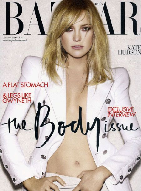 Kate Hudson British Harper's Bazaar Cover January 2009