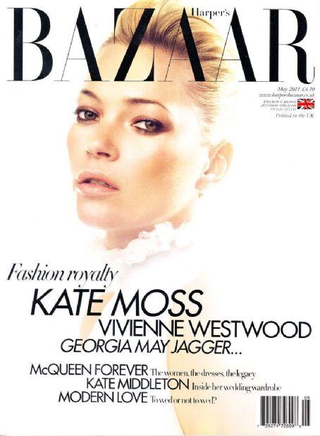 Kate Moss British Harper's Bazaar Cover May 2011
