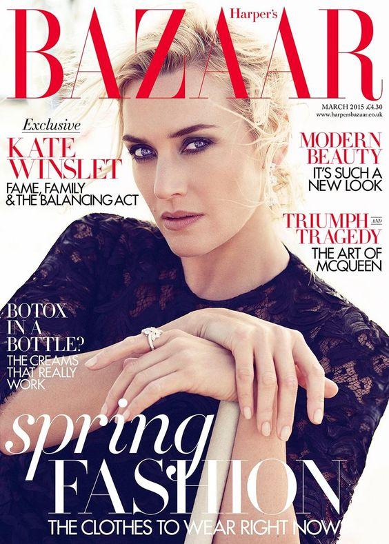 Kate Winslet British Harper's Bazaar Cover March 2015