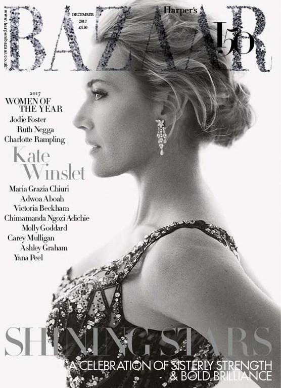 Kate Winslet British Harper's Bazaar Cover December 2017