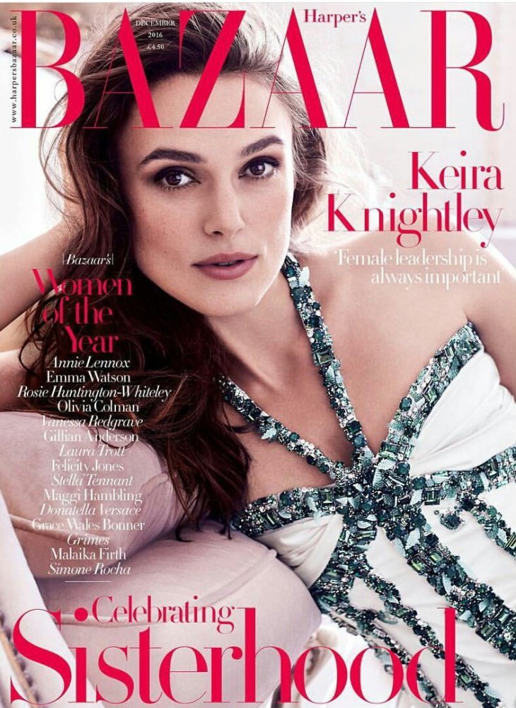 Keira Knightley British Harper's Bazaar Cover December 2016