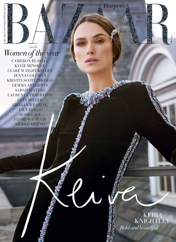 Keira Knightley British Harper's Bazaar Cover December 2018