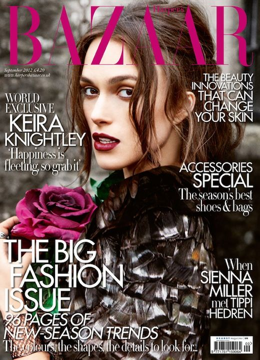 Keira Knightley British Harper's Bazaar Cover September 2012