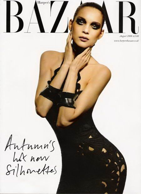 Kim Noorda British Harper's Bazaar Cover August 2008