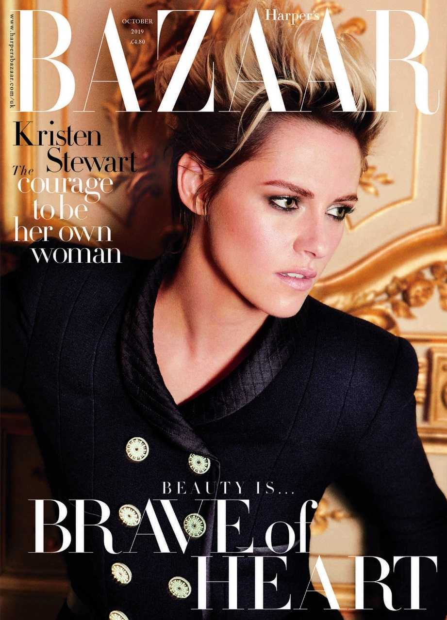 Kristen Stewart British Harper's Bazaar Cover October 2019