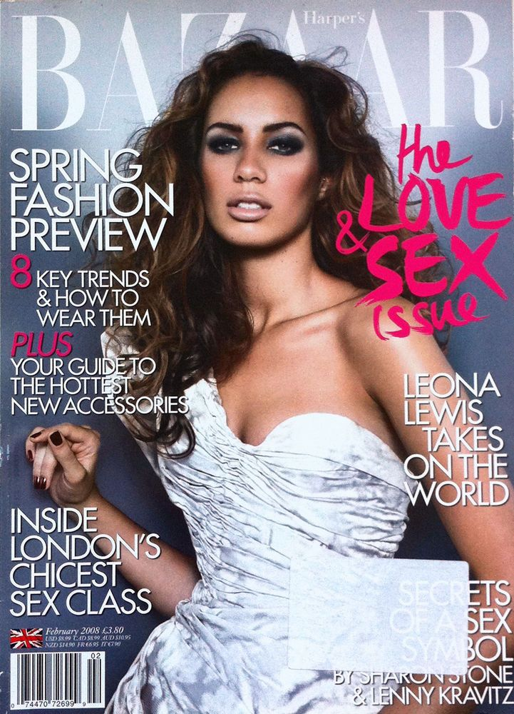 Leona Lewis British Harper's Bazaar Cover February 2008