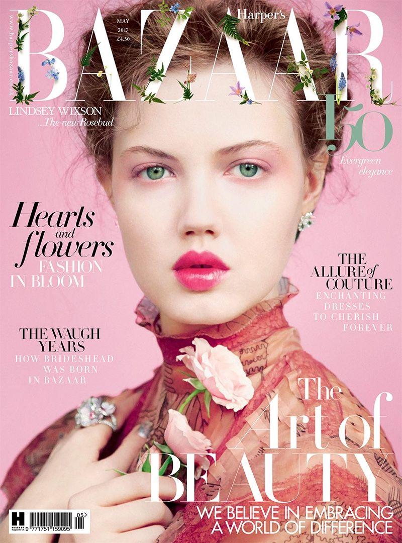 Lindsey Wixson British Harper's Bazaar Cover May 2017