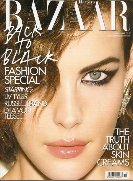 Liv Tyler British Harper's Bazaar Cover October 2008