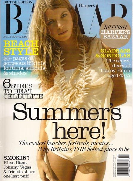 British Harper's Bazaar Cover July 2007