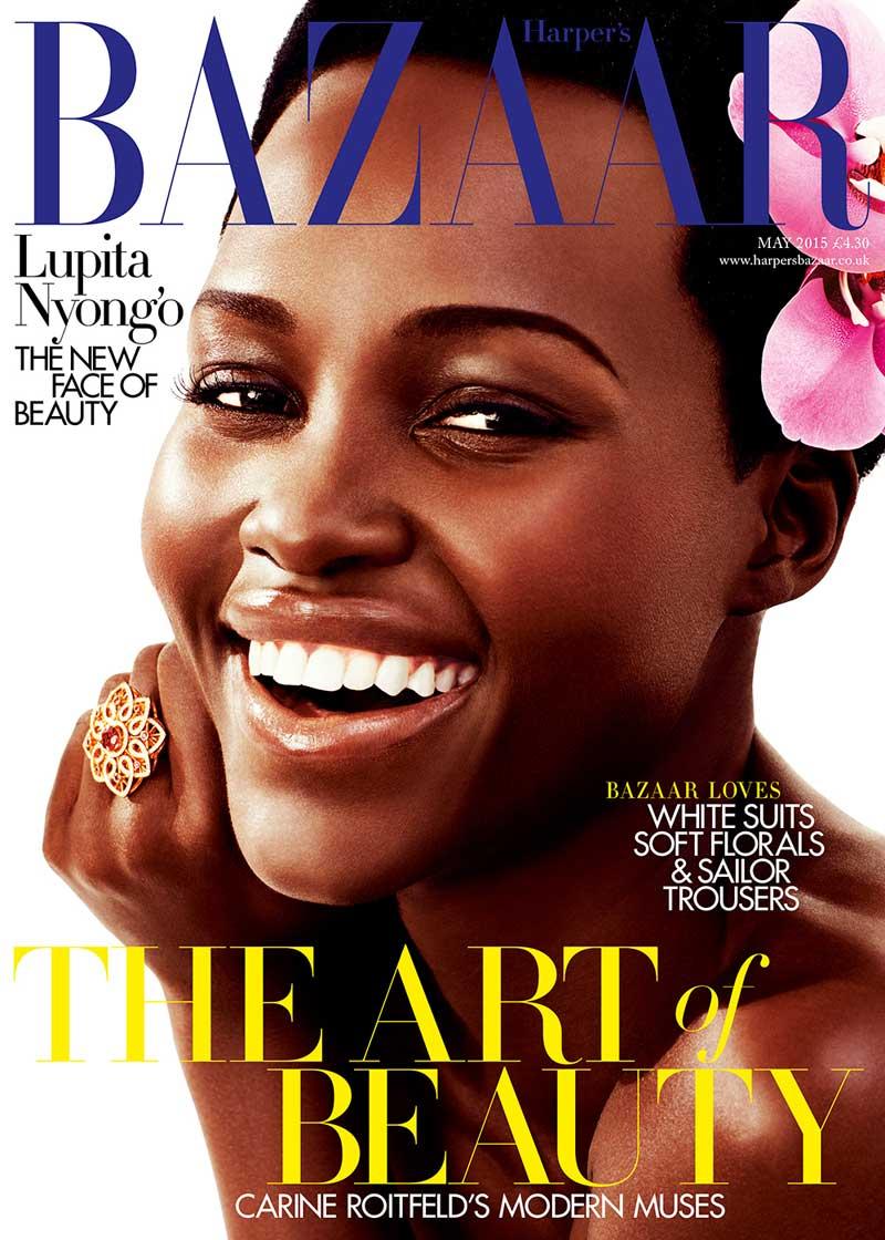 Lupita Nyong'o British Harper's Bazaar Cover May 2015
