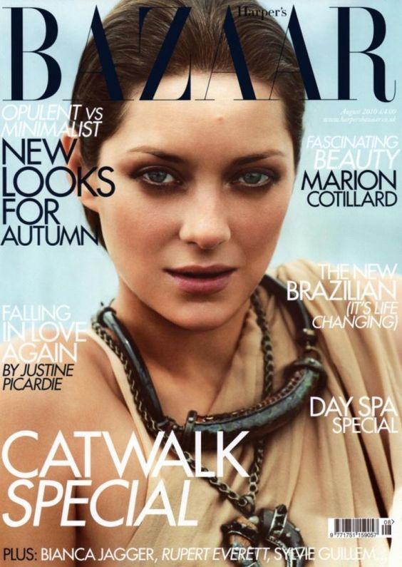 Marion Cotillard British Harper's Bazaar Cover August 2010