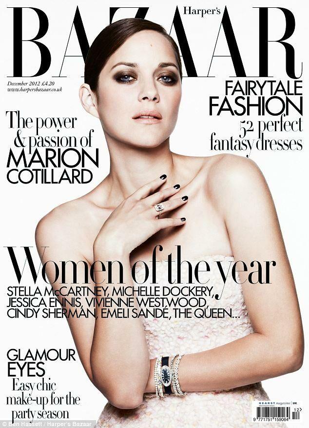 Marion Cotillard British Harper's Bazaar Cover December 2012