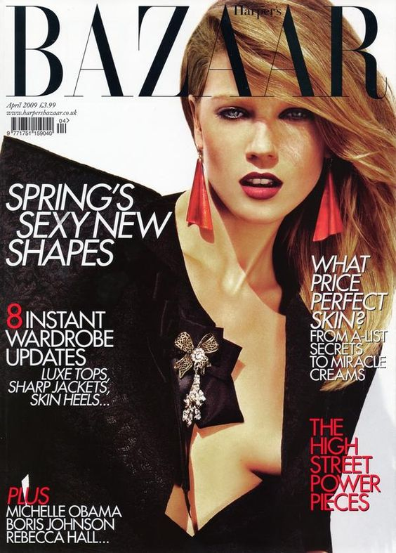 Masha Novoselova British Harper's Bazaar Cover April 2009