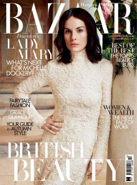 Michelle Dockery British Harper's Bazaar Cover October 2015