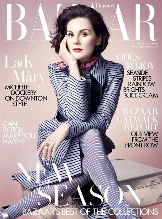 Michelle Dockery British Harper's Bazaar Cover August 2013
