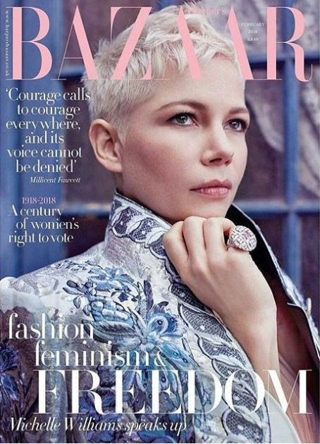 Michelle Williams British Harper's Bazaar Cover February 2018