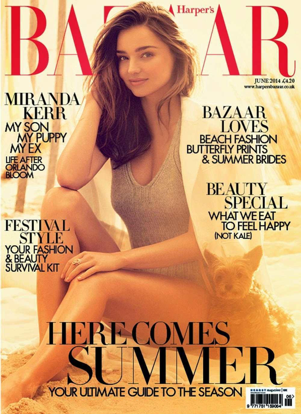 Miranda Kerr British Harper's Bazaar Cover June 2014