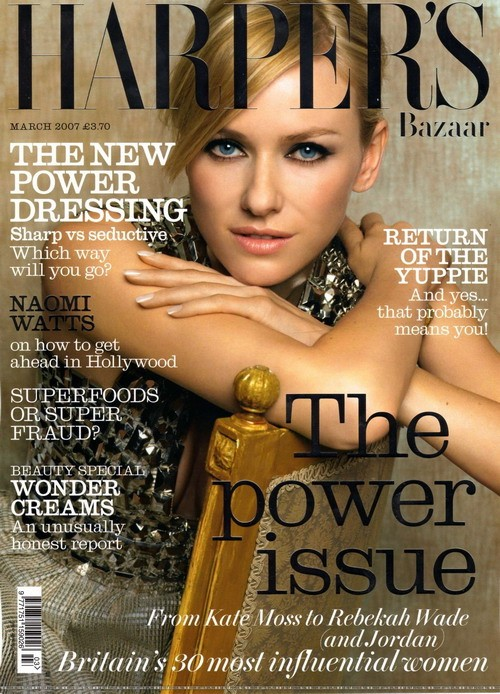 Naomi Watts British Harper's Bazaar Cover March 2007