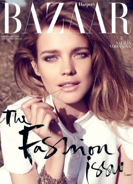 Natalia Vodianova British Harper's Bazaar Cover September 2009