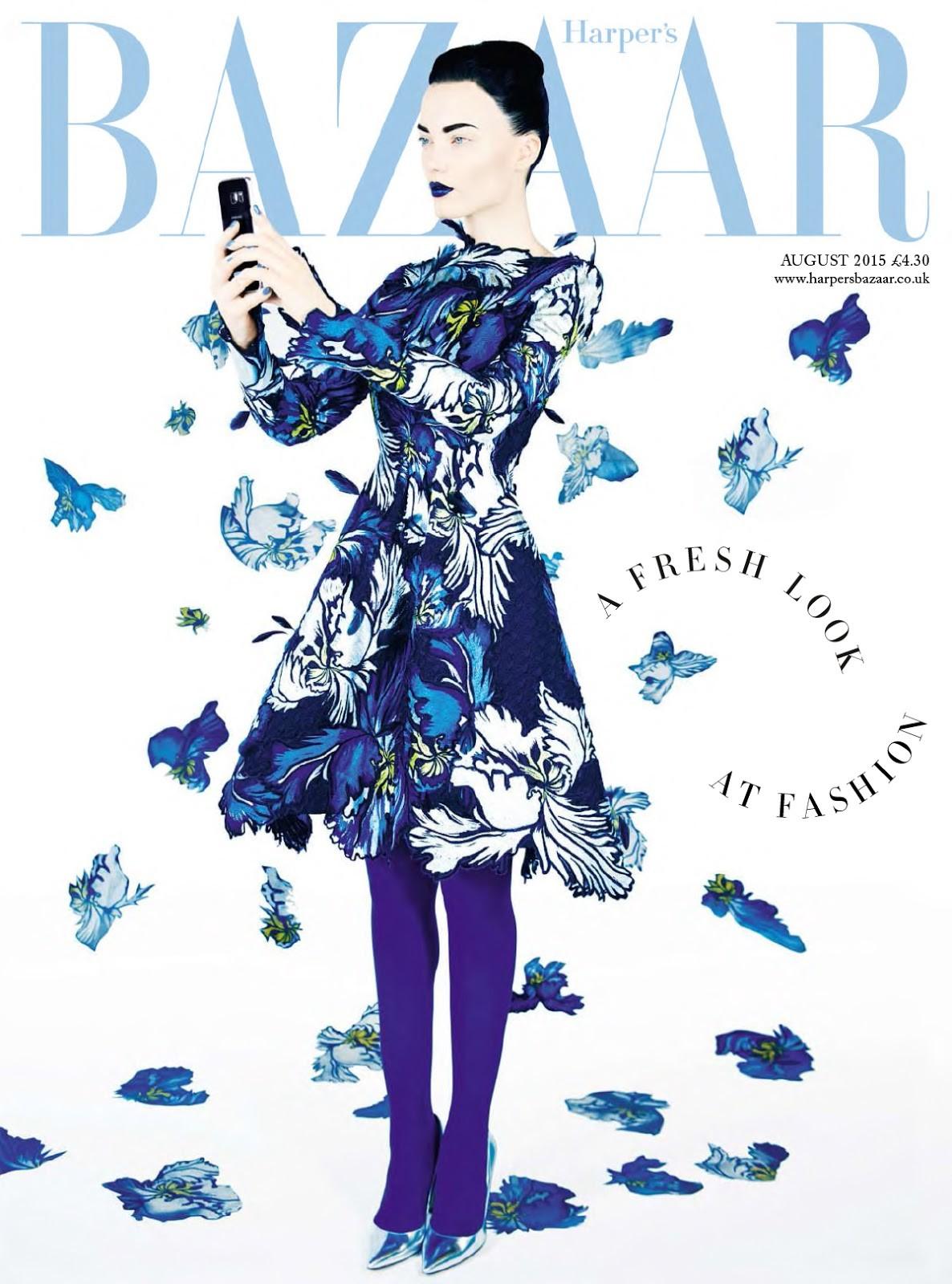 Naty Chabanenko British Harper's Bazaar Cover August 2015
