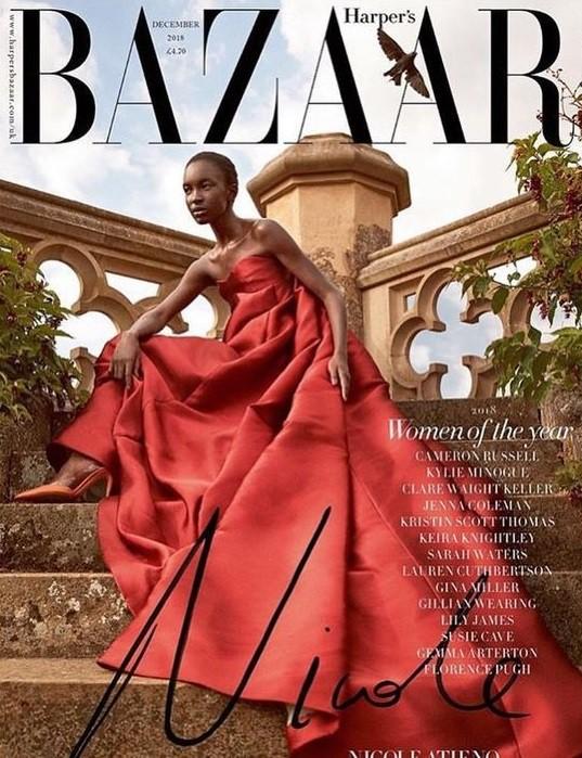 Nicole Atieno British Harper's Bazaar Cover December 2018