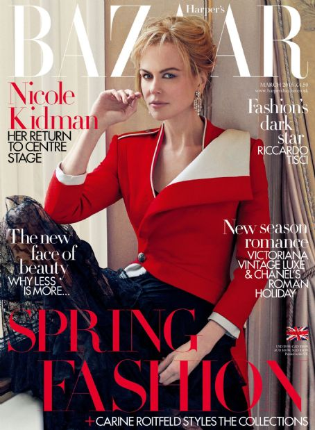 Nicole Kidman British Harper's Bazaar Cover March 2016
