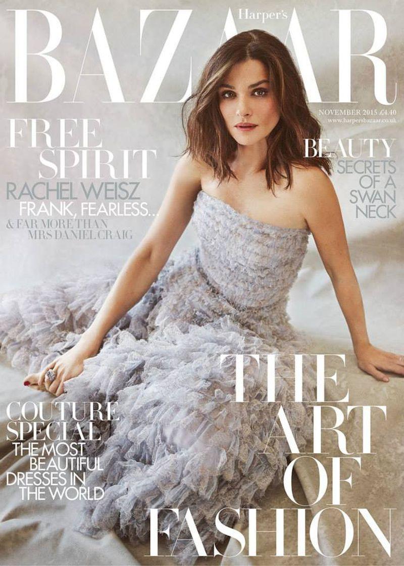 Rachel Weisz British Harper's Bazaar Cover November 2015