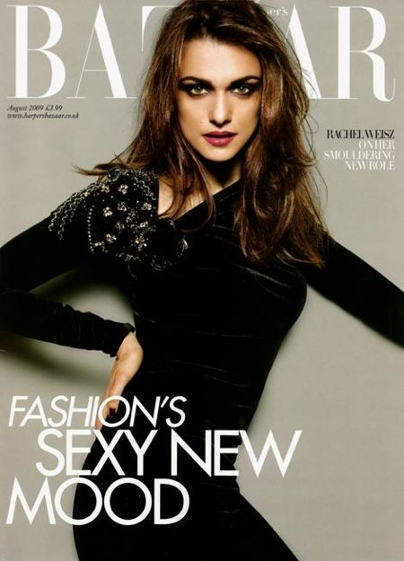 Rachel Weisz British Harper's Bazaar Cover August 2009