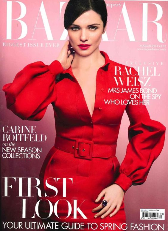 Rachel Weisz British Harper's Bazaar Cover March 2013