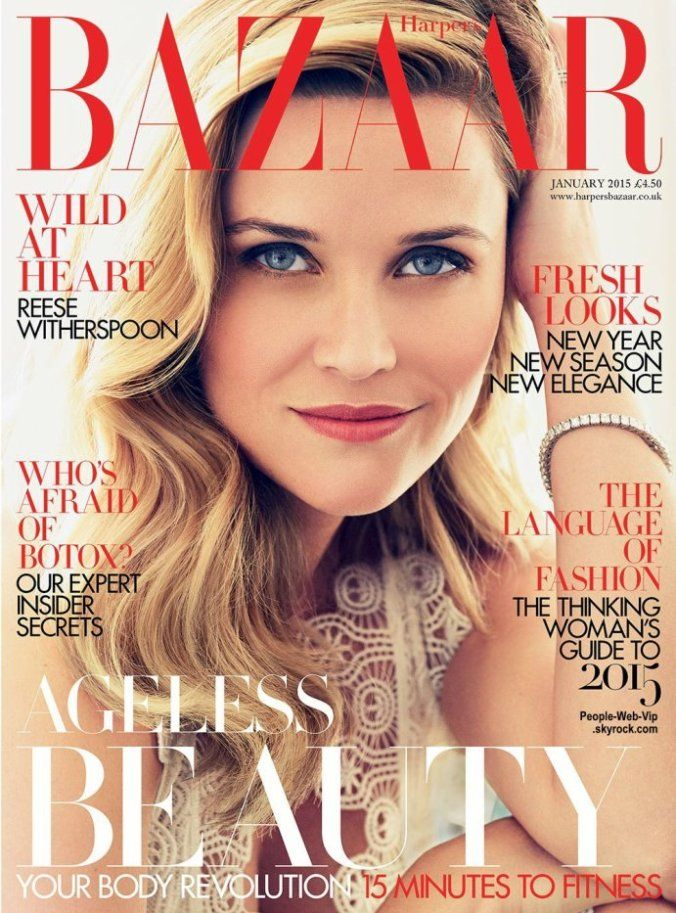 Reese Witherspoon British Harper's Bazaar Cover January 2015