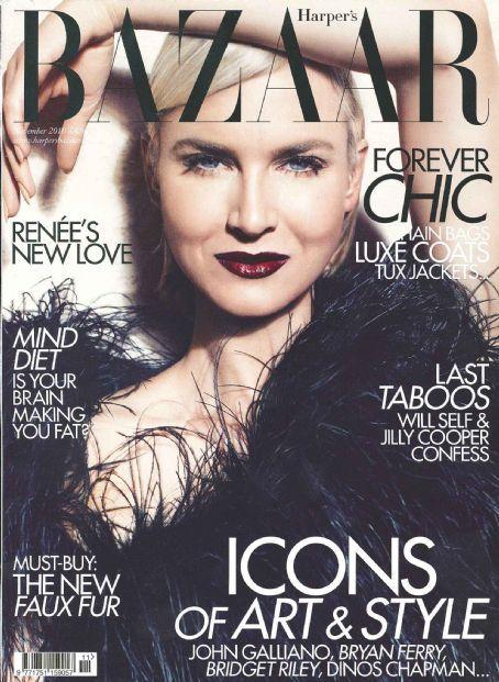 Renée Zellweger British Harper's Bazaar Cover November 2010