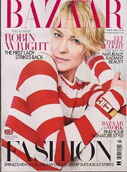 Robin Wright British Harper's Bazaar Cover April 2016