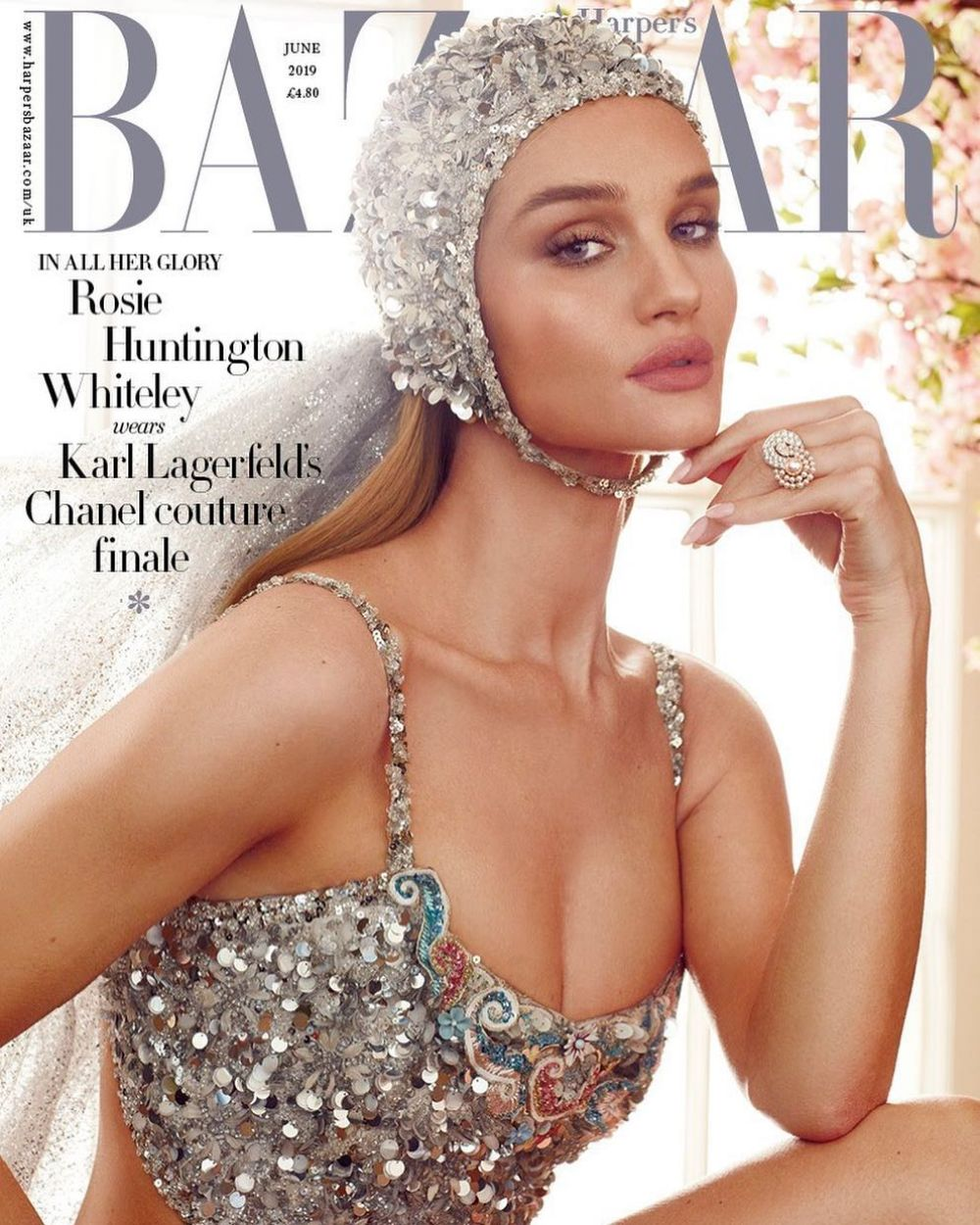 Rosie Huntington-WhiteleyBritish Harper's Bazaar Cover June 2019